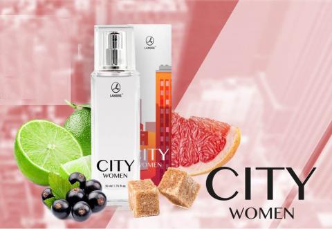 "Женская туалетная вода "" CITY WOMEN"" Lambre / Ламбре  50 ml"