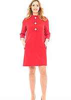 Женское платье Камилла больших размеров  48, 50, 52, 54 малиновое