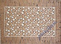 """Рельефный прямоугольный ковер Шенилл """"Римские камни"""", цвет коричневый"""
