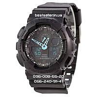 Часы водонепроницаемые Casio G-Shock GA-100 Black Light Blue AAA