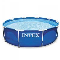 Каркасный бассейн Intex 28202 (56999) + фильтр-насос. Размер 305х76 см 4485 л    BestWay