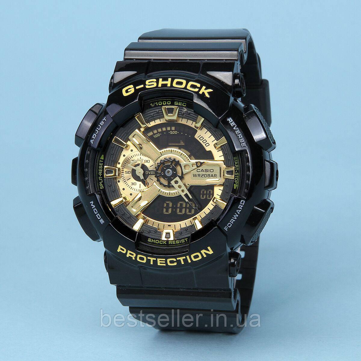 3a05ca47 Часы водонепроницаемые 20 BAR Casio G-Shock GA-110 Black Gold. Реплика  Premium качества!