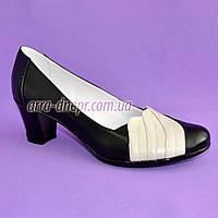 """Туфли кожаные женские на устойчивом каблуке. ТМ """"Maestro"""", фото 1"""
