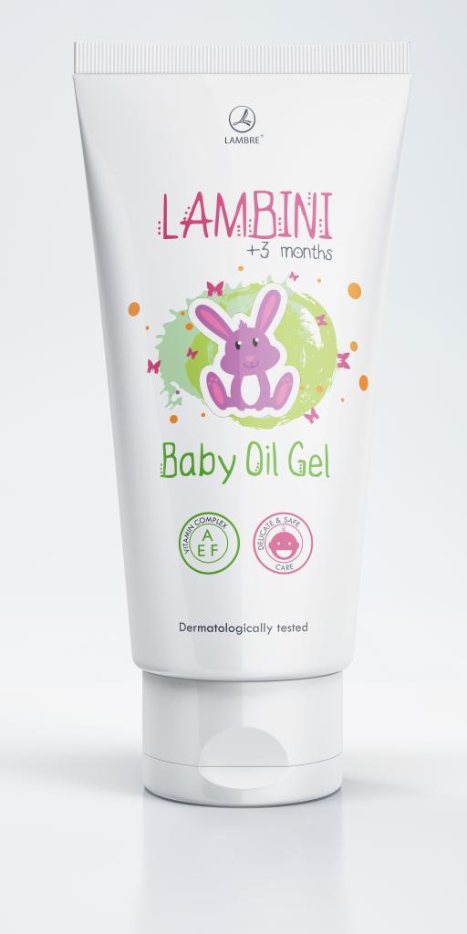 """Детское гель-масло """"Lambini Baby Oil Gel""""  Lambre / Ламбре 120 ml"""