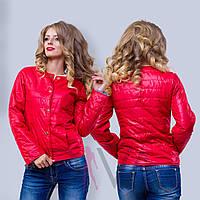 Куртка женская на заклепках W02-511-6