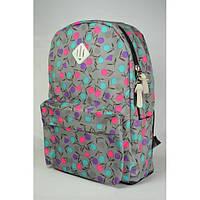 Рюкзак школьный серый в горошек