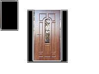 Дверь входная Арка улица 960*2050 мм с ковкой№2 Премиум (Две трубы) Дуб медовый