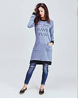 Женское трикотажное платье туника