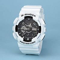 Часы водонепроницаемые Casio g-shock Ga-110 White Black AAA