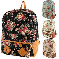 Рюкзак женский в цветочек 5473