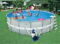 Стальной бассейн Ultra Frame Pool 28332 (549*132см) Полный комплект  Intex