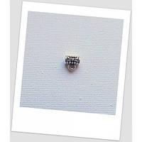 Бейл (держатель для кулона) миниатюрный стальной, 7х4 мм