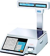 Весы CAS с печатью этикетки