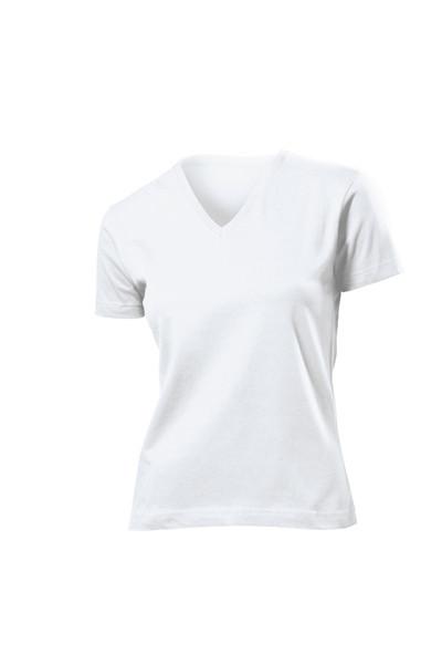 Футболки Stedman Classic V-neck Women белые