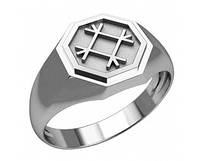 Кольцо-Оберег серебряное Целебник 30322
