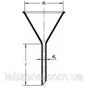 Воронка стеклянная -36,56,75,100 мм