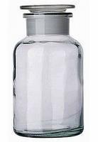 Бутылки для реактивов в лабораторию:широкогорлые, светлое стекло, фото 1