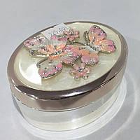Шкатулка мельхиор бабочки