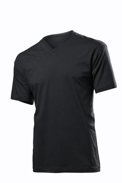 Футболки Stedman Classic V-neck Men черные, фото 1