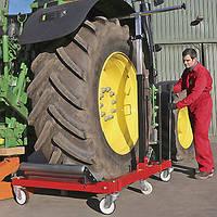 Тележка Wheel Doll для транспортировки шин грузового транспорта тракторов и карьерной техники весом до 1500 кг