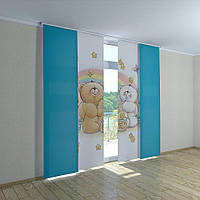 Японские фото шторы мишка радуга