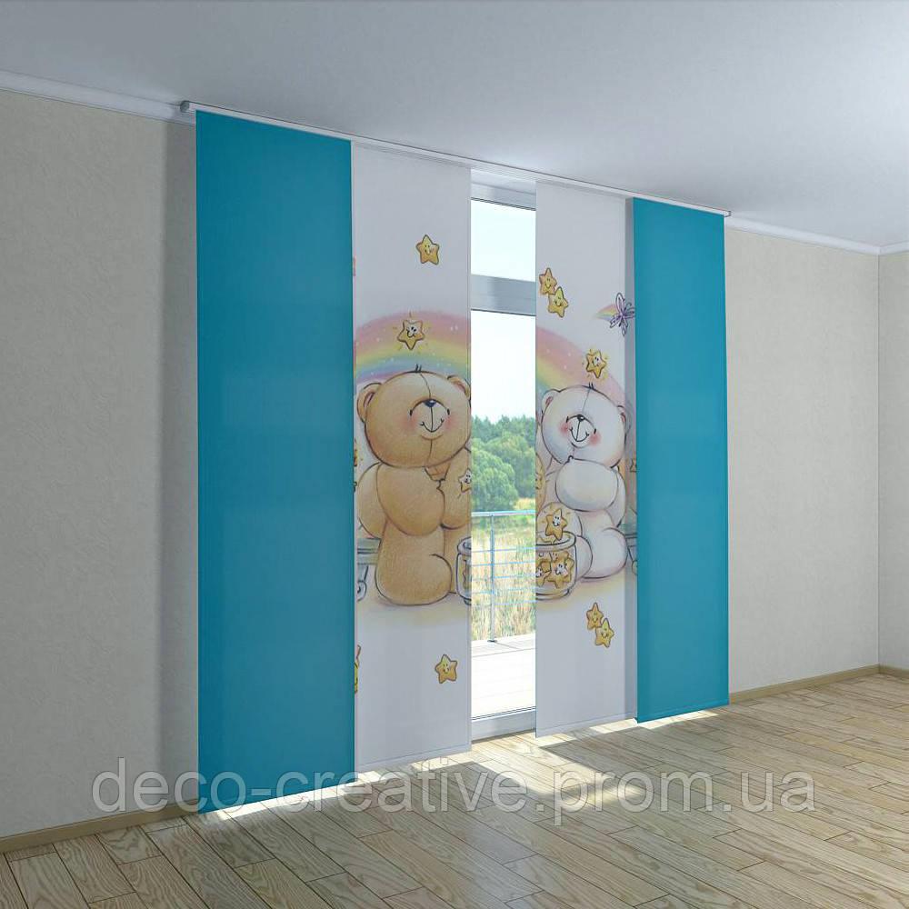 Японские фото шторы мишка радуга - Интернет магазин deco-creative в Черниговской области