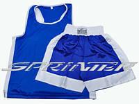Боксёрские майка и шорты S синяя