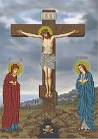 Схема для вышивания бисером Распятие Христа КМИ 4202