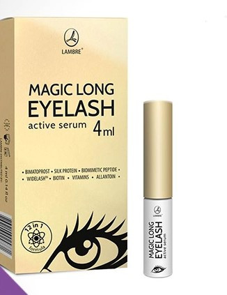"Сыворотка для ресниц ""Magic Long EYELASH active serum"" Ламбре / Lambre 4 ml"