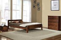 """Ліжко двоспальне дерев'яне """"Стефанія"""" Ясен 1,6 м (Мікс Меблі)"""
