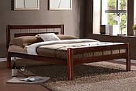 """Кровать двуспальная деревянная """"Альмерия"""" Ольха 1.4м (Микс Мебель), фото 1"""