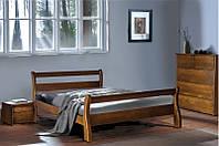 """Кровать двуспальная деревянная """"Монреаль"""" Орех 1.6м (Микс Мебель)"""
