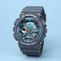 Часы водонепроницаемые Casio g-shock Ga-110 Silver Blue AAA