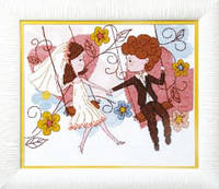 Набор для вышивания крестом Crystal Art Веселая свадьба