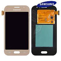 Дисплей с сенсорным эраном для Samsung Galaxy J1 Ace J110, золотой, оригинал