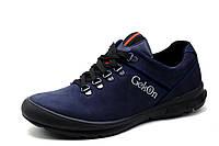 Туфли мужские Gekon, кожаные, спортивные, темно-синие, р. 40