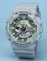 Часы водонепроницаемые Casio g-shock Ga-110 Silver Green AAA