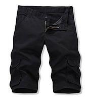 Мужские  шорты карманами карго черные, фото 1
