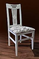 """Деревянный стул """"Юля"""" (твердая спинка, белый) Микс Мебель"""