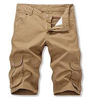 Мужские  шорты карманами карго бежевый