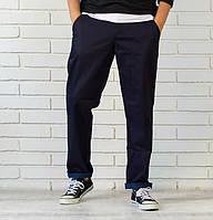 Мужские  джинсы свободного кроя синие