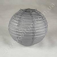 Бумажный подвесной фонарик, серый, 35 см