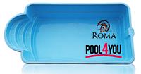 Бассейн из стекловолокна POOL4YOU Roma 13 (стоимость чаши указана для базовой комплектации бассейна)