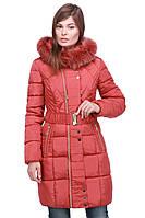 Коралловая курточка с мехом