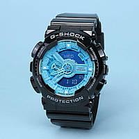 Часы водонепроницаемые Casio g-shock Ga-110 Black Blue AAA