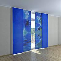 Японские шторы голубая орхидея