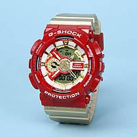 Часы водонепроницаемые Casio g-shock Ga-110 Gold Red AAA. (IRON MAN).