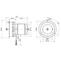 Вентилятор дымосос ATAS FCJ4C82S
