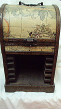 Шкатулка Карта деревянная размер 36*15*15