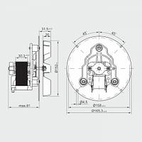 Вентилятор дымосос MplusM RR152 3030LH